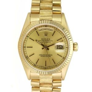 Rolex Day-Date 18078 18k Yellow Gold Bark Finish